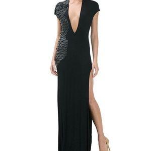 CQbyCQ Black Embellished Maxi Dress
